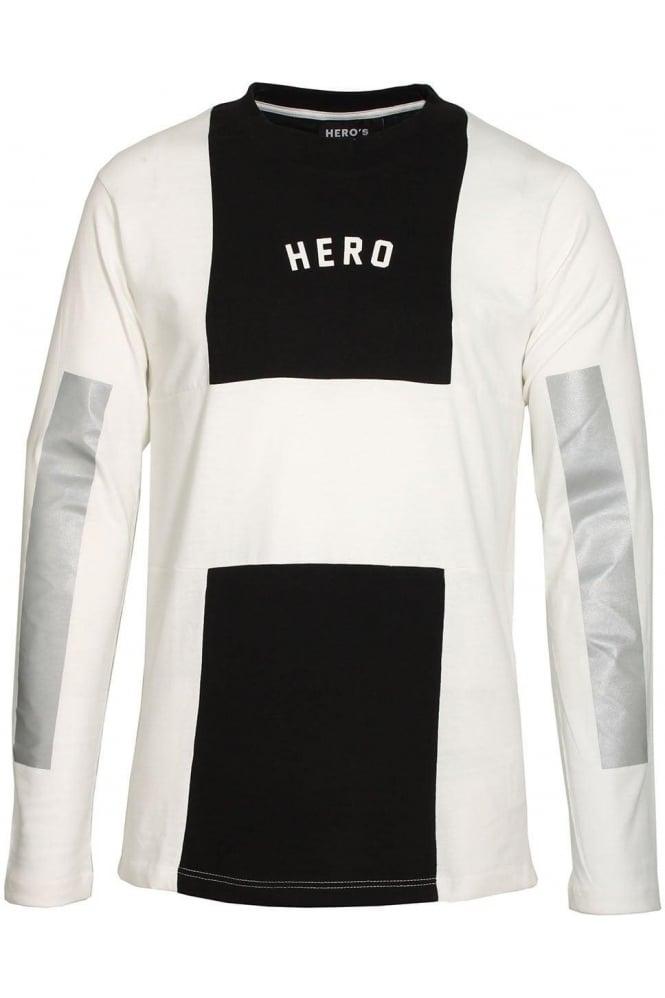 HERO'S HEROINE Long Sleeve Long Line T-Shirt | White