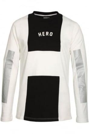 Long Sleeve Long Line T-Shirt | White