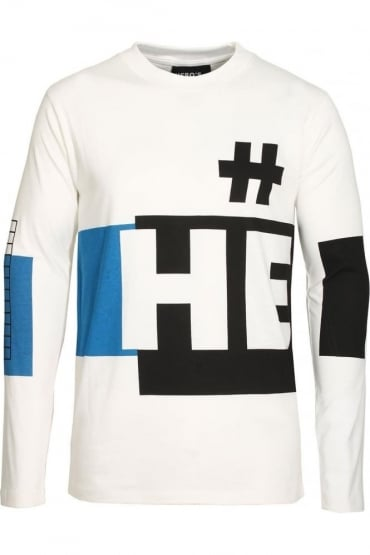 Long Sleeve Long Line T-Shirt | White
