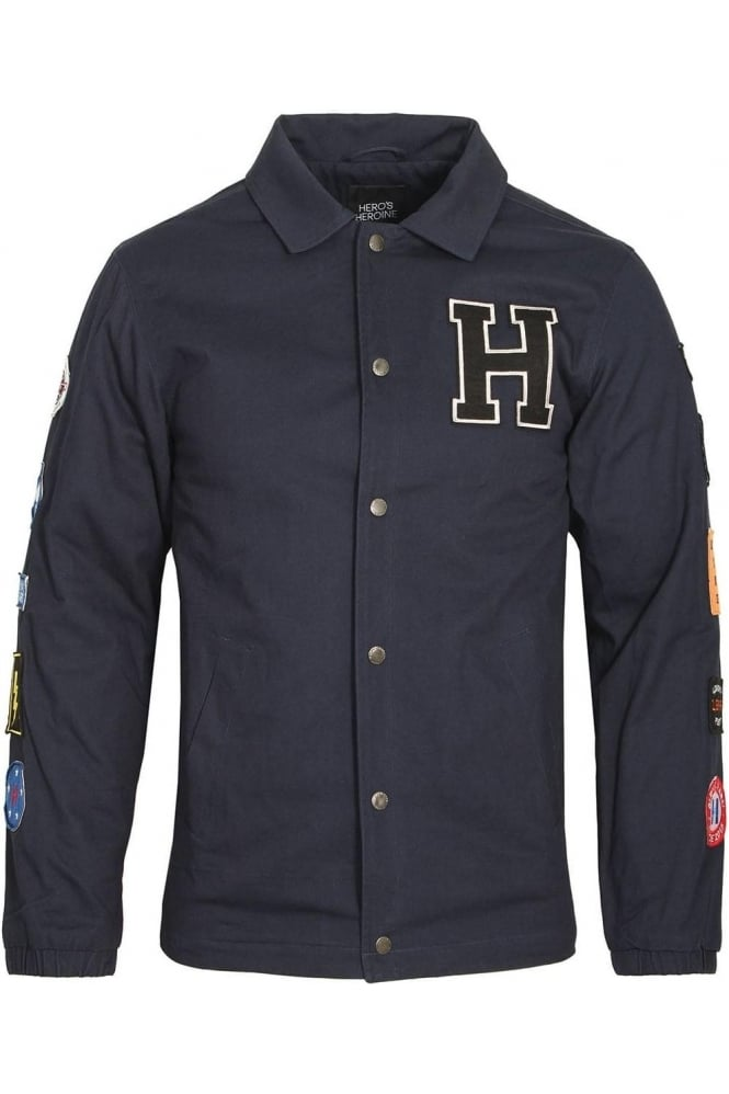 HERO'S HEROINE Navy Coach Jacket