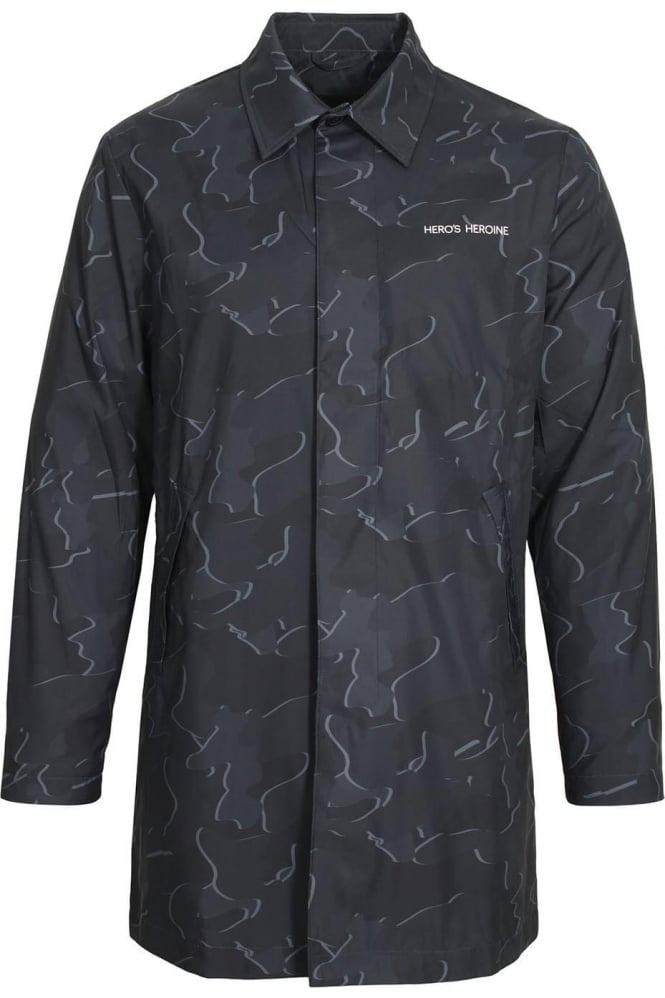 HERO'S HEROINE Raincoat | Black Grey