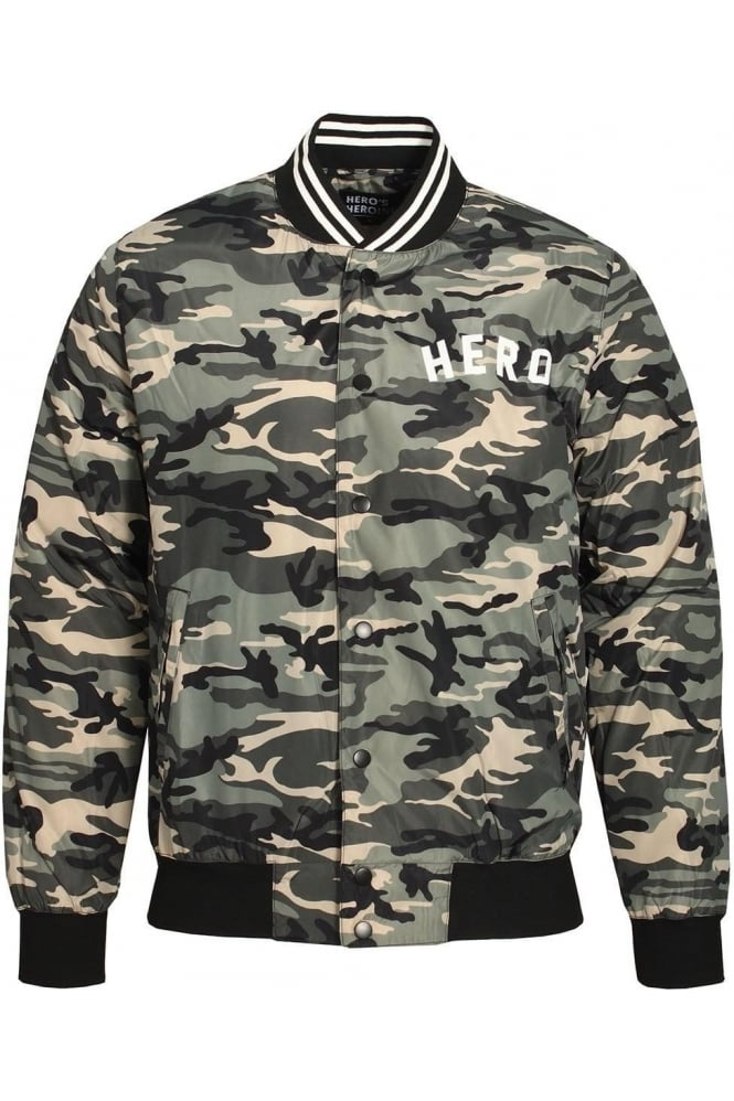HERO'S HEROINE Urban Camo Bomber Jacket