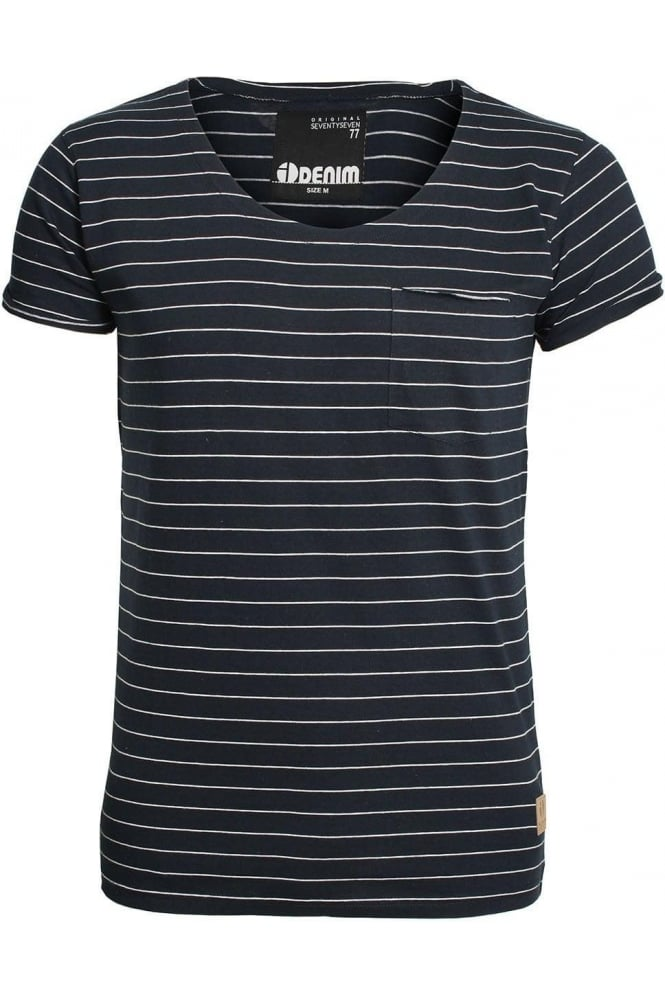 ID DENIM Mons Striped T-Shirt | Black