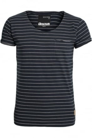 Mons Striped T-Shirt | Black