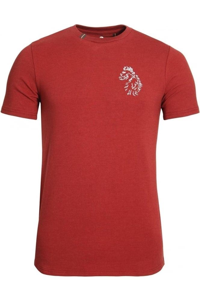 LUKE SPORT Bowens Slim Fit Long Length T-Shirt | Lux Red