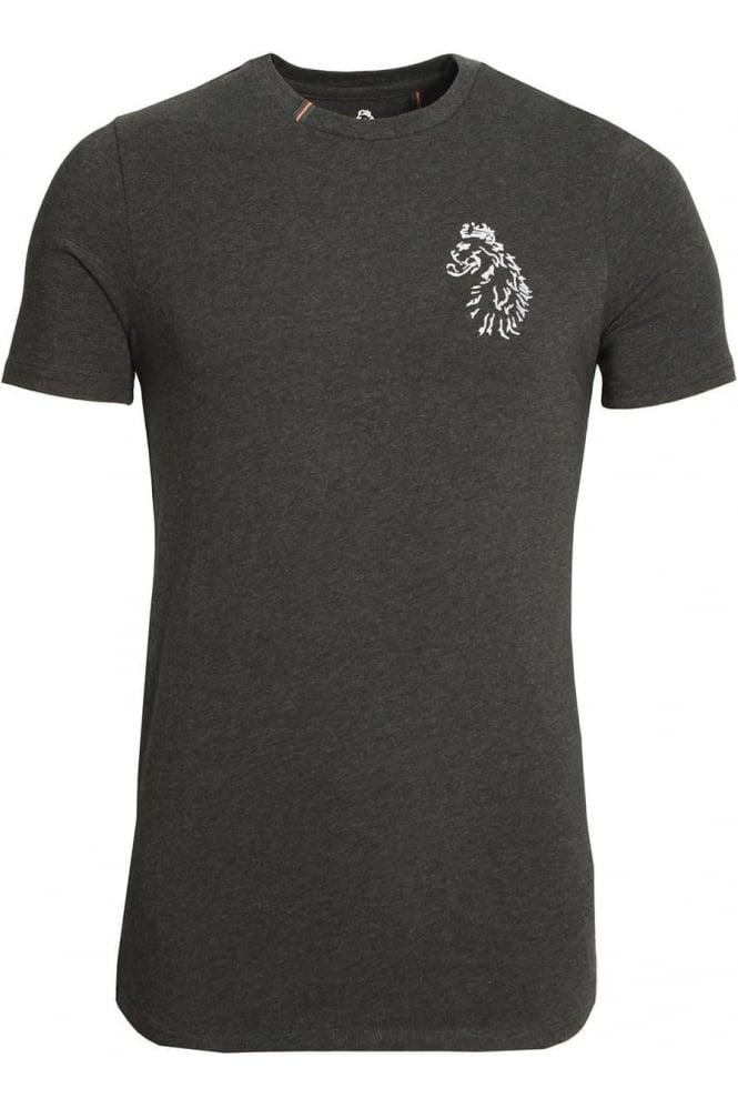 LUKE SPORT Bowens Slim Fit Long Length T-Shirt | Marl Charcoal