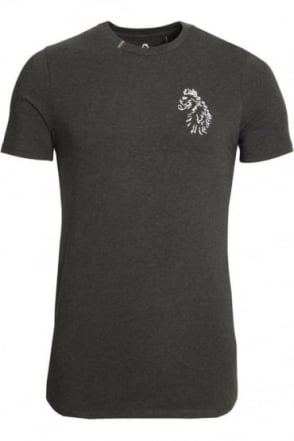 Bowens Slim Fit Long Length T-Shirt | Marl Charcoal