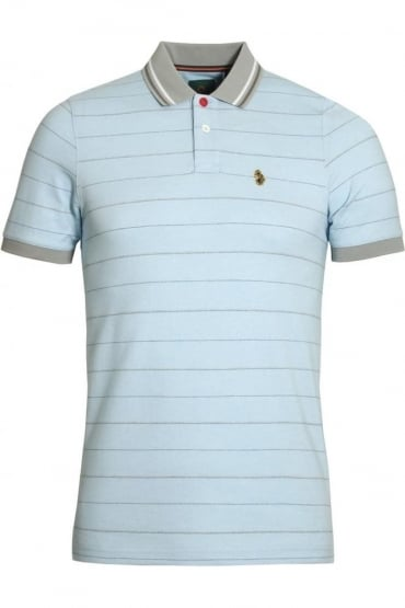 Brahamas Polo Shirt White Mix
