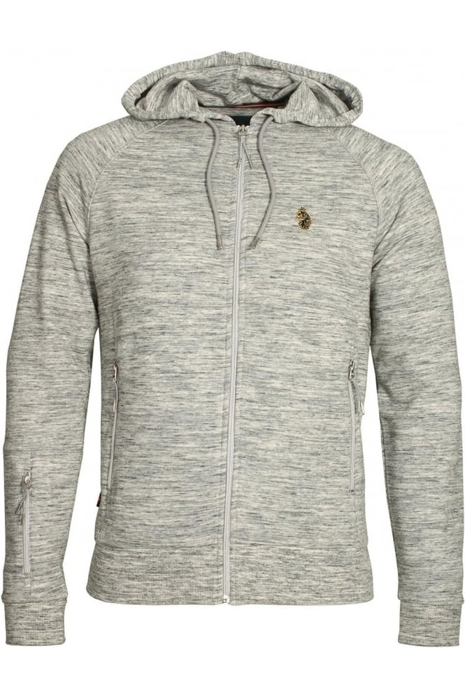 LUKE SPORT Marl Grey Zip Though Hoodie Top