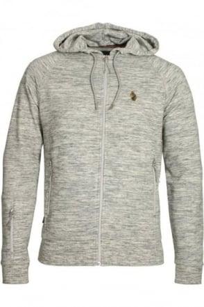 Marl Grey Zip Though Hoodie Top