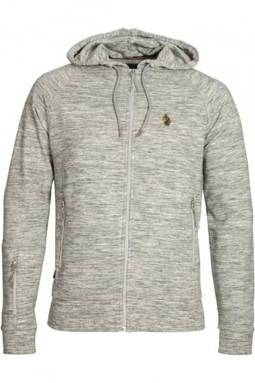 Marl Grey Zip Though Hoodie Top