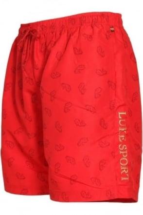Mathews Monogrammed Shorts | Marina Red