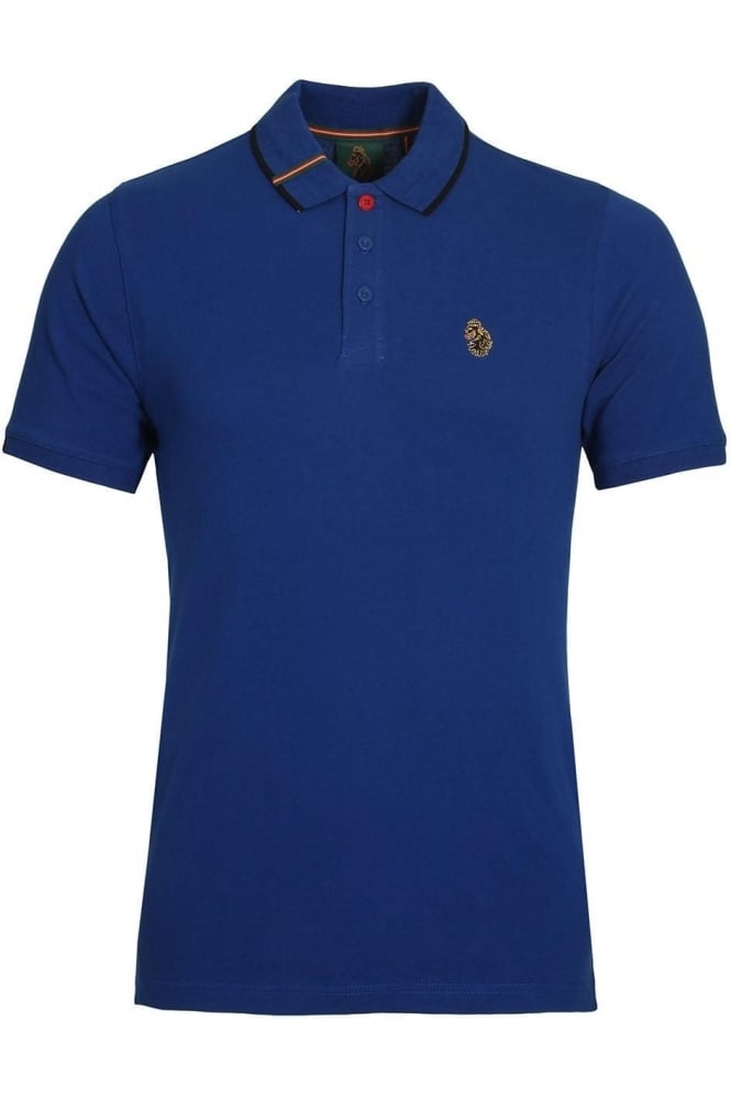 Meads cotton polo shirt lux blue shop luke sport polo shirts for Luke donald polo shirts