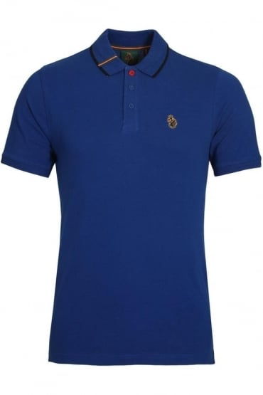 Meads Cotton Polo Shirt Lux Blue