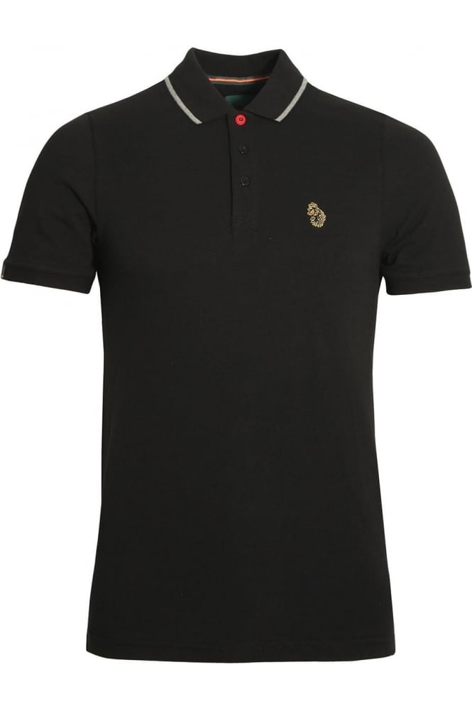 LUKE SPORT Meads Polo Shirt | Jet Black