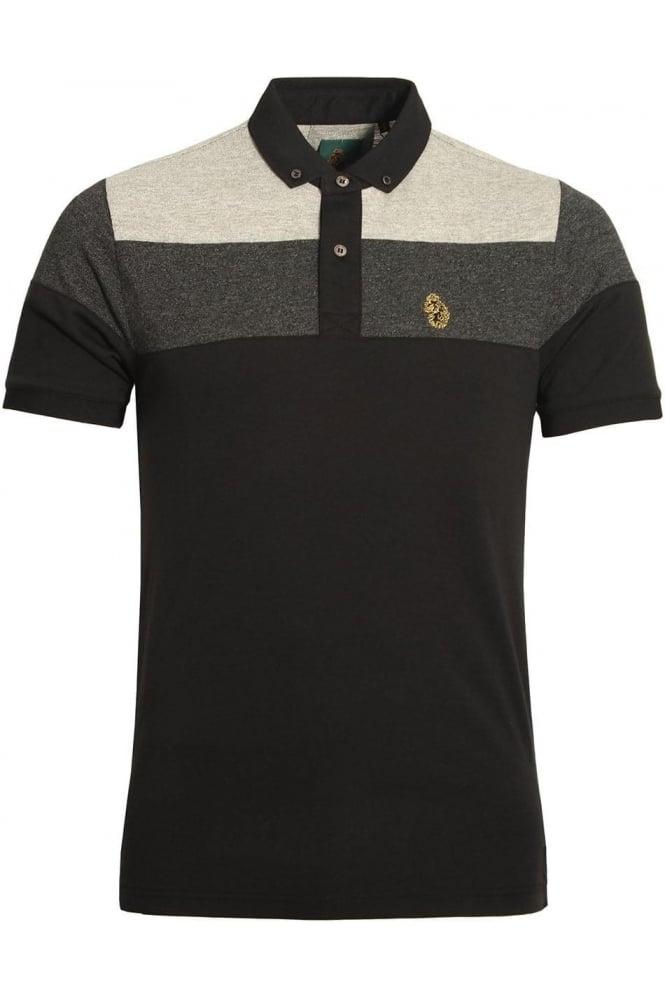 LUKE SPORT Mickey Spacer Stripe Polo Shirt | Black Mix