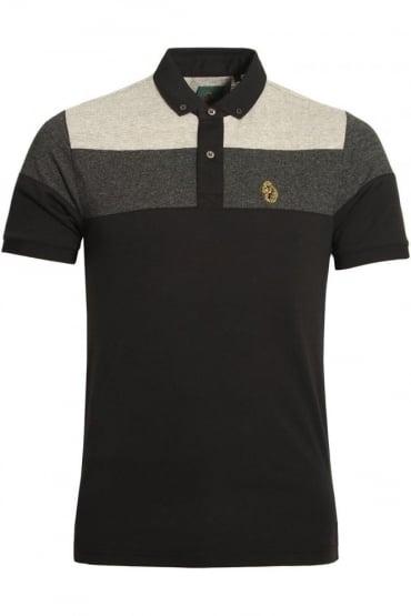 Mickey Spacer Stripe Polo Shirt | Black Mix