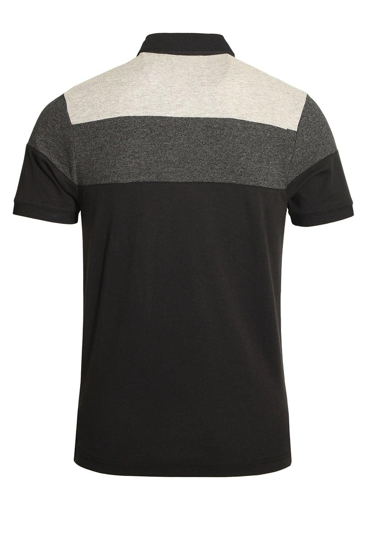 Luke Sport Mickey Spacer Stripe Polo Shirt Black Mix