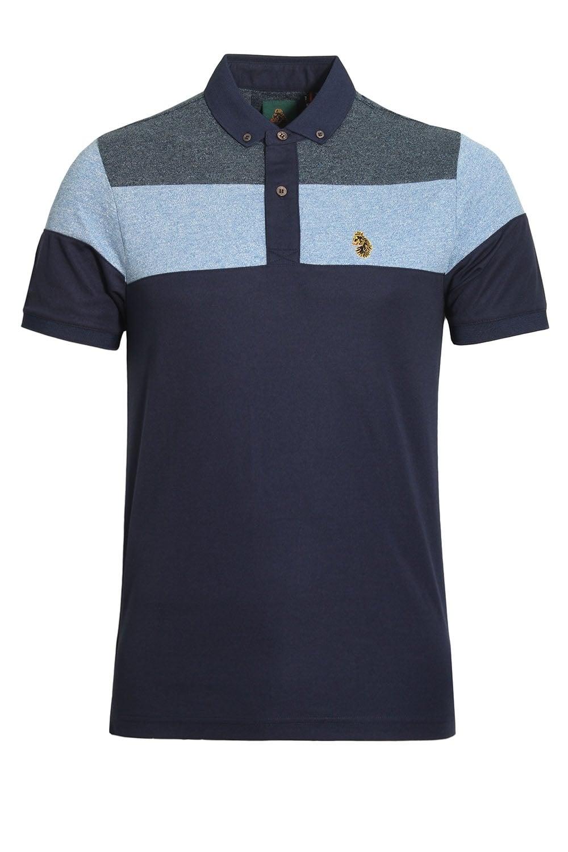 Luke Sport Mickey Spacer Stripe Polo Shirt Lux Royal