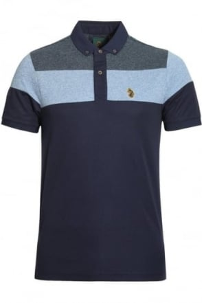 Mickey Spacer Stripe Polo Shirt | Lux Royal