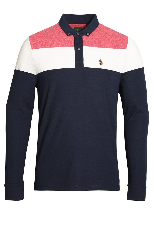 Luke Sport Mickey Spacers Long Sleeve Navy Polo Shirt  2ccace056e2e