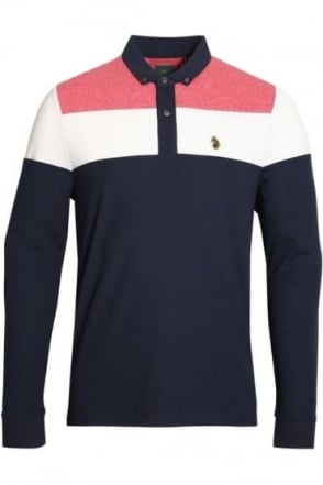 Mickey Spacers Long Sleeve Polo Shirt | Lux Navy