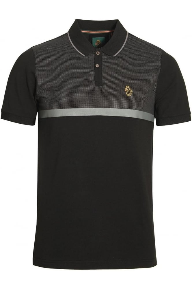 LUKE SPORT Modern Classik Polo Shirt | Jet Black Mix