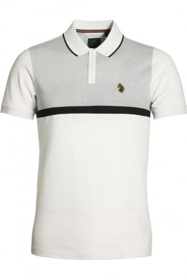 Modern Classik Polo Shirt | White Mix