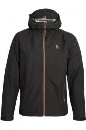 Raleigh Hooded Windbreaker Jacket | Jet Black