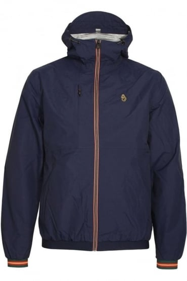 Sir Walter Sport Zip Through Tech Jacket | Lux Navy