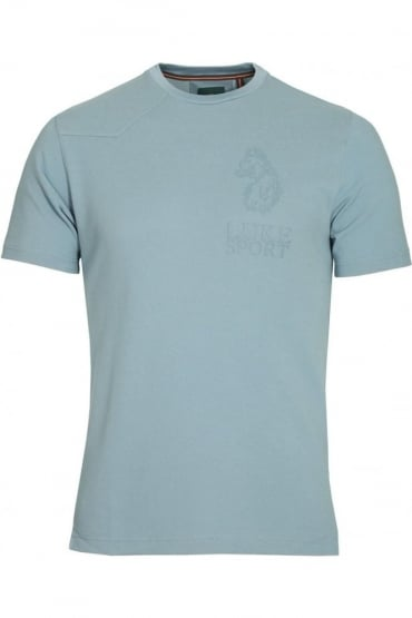 Walker Blue Cotton T-Shirt