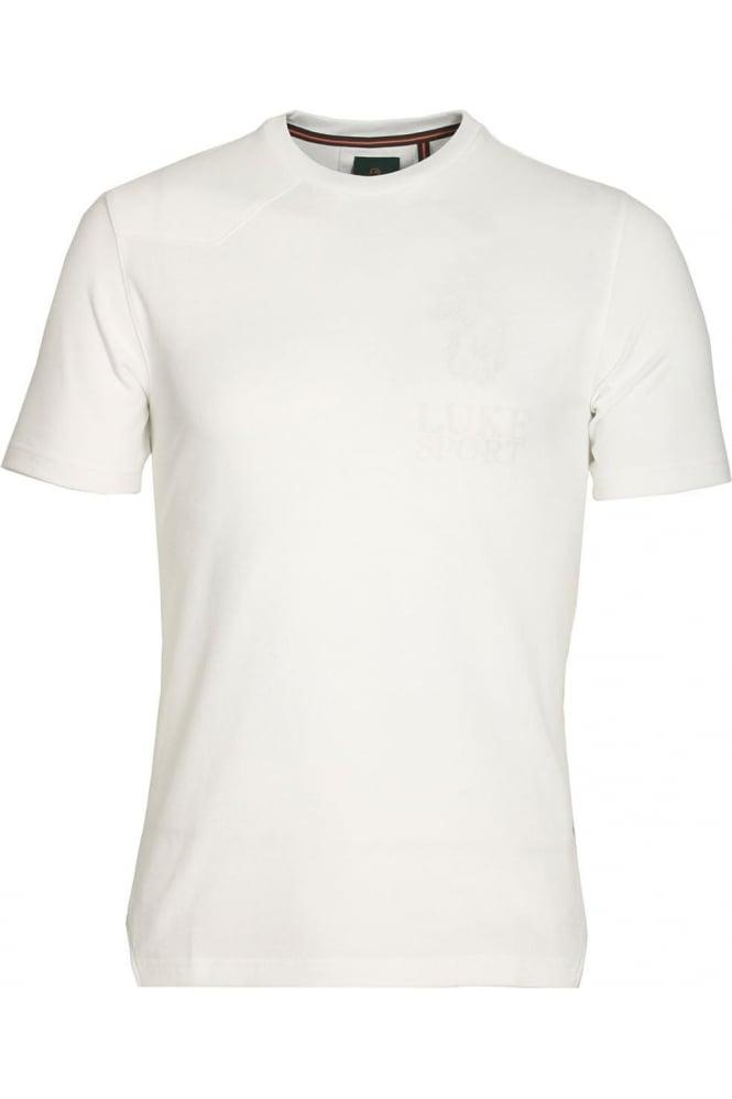 LUKE SPORT Walker White Cotton T-Shirt