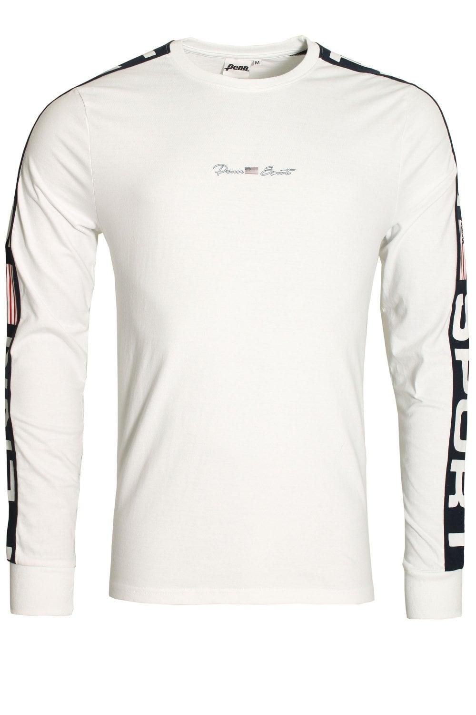 2ddf1f1660a911 Penn Sport Panelled Long Sleeve Crew Neck T-Shirt | Shop Penn Sport