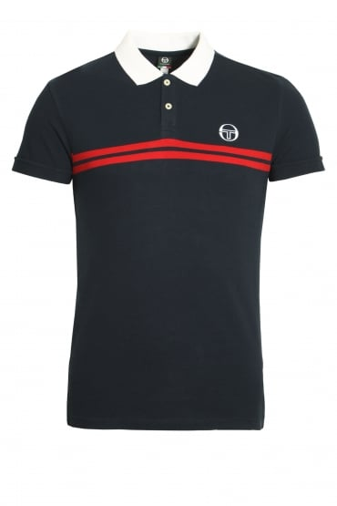 Super Mac Polo Shirt | Navy/Red