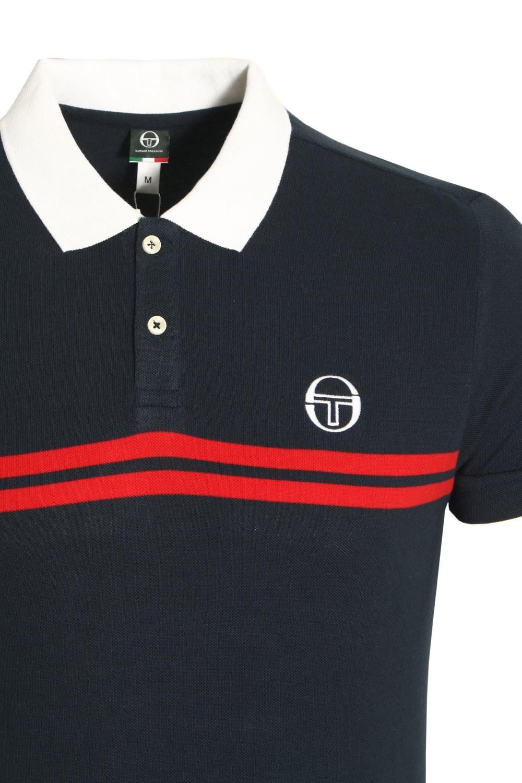 d2800433 Sergio Tacchini Super Mac Polo Shirt Navy Red | Shop Sergio Tacchini