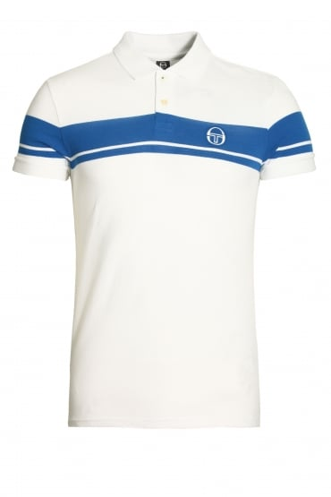 Young Line Archivio Polo Shirt | White/Royal