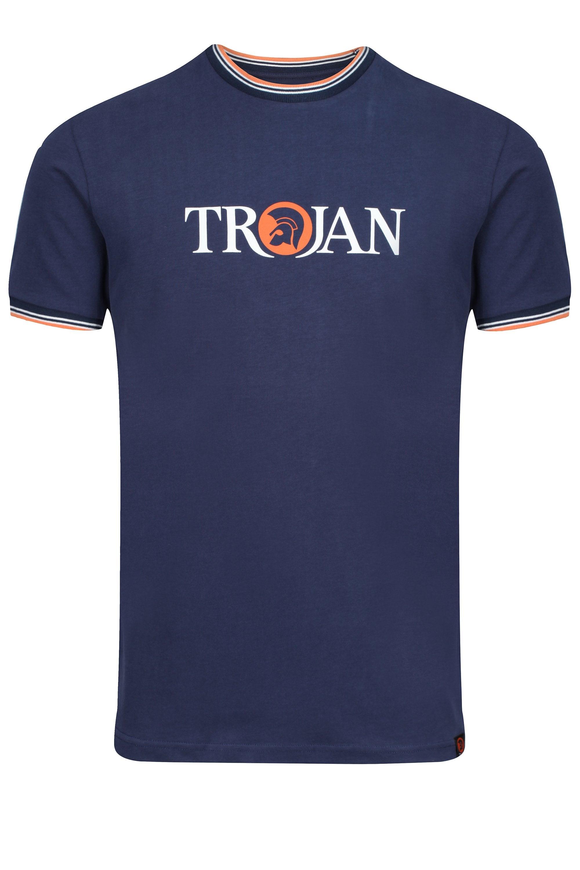 Trojan Record Label Tee-Navy