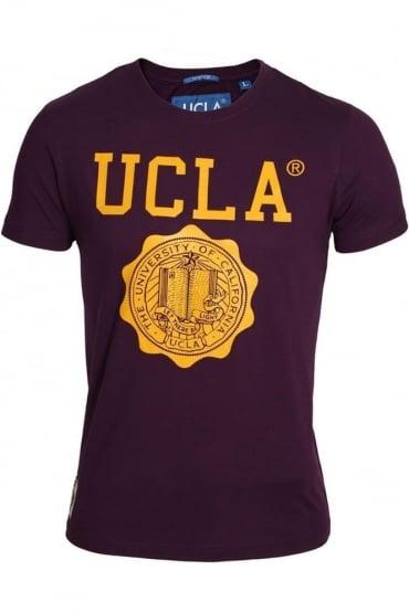 Powell Athletic T-Shirt | Black, Plum & White