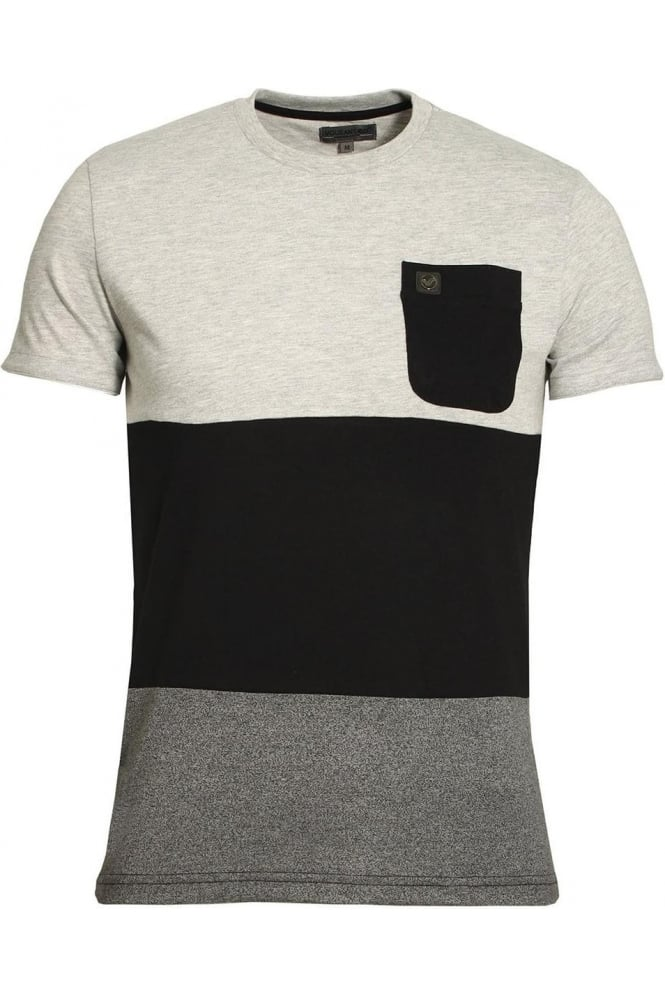 VOI JEANS Arroyo Pocket T-Shirt Salt & Pepper
