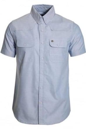 Burke Chambray Cotton Shirt | Light Blue