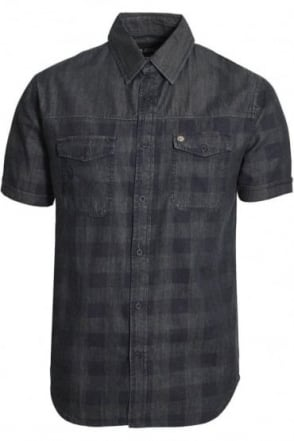 Dench Check Denim Shirt | Blue Denim