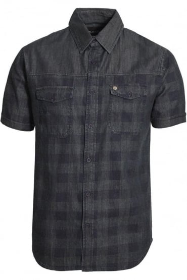 Dench Check Denim Shirt | Blue Denim