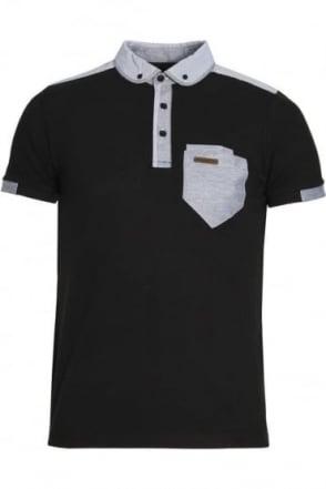 Fulton Button Down Polo Shirt | Black