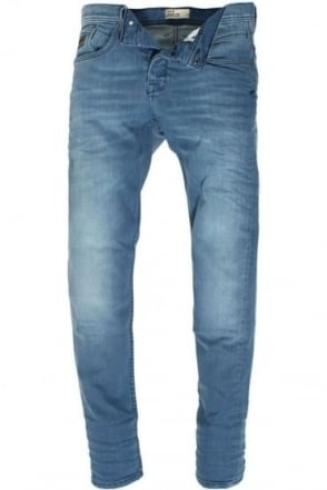 Harvey Stretch Mid Blue Tapered Denims