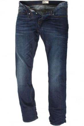 Ryley Stretch Mid Blue Regular Denims